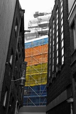 rusztowanie budynku